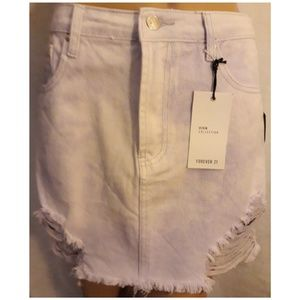 Forever 21 Distressed Jeans Skirts.